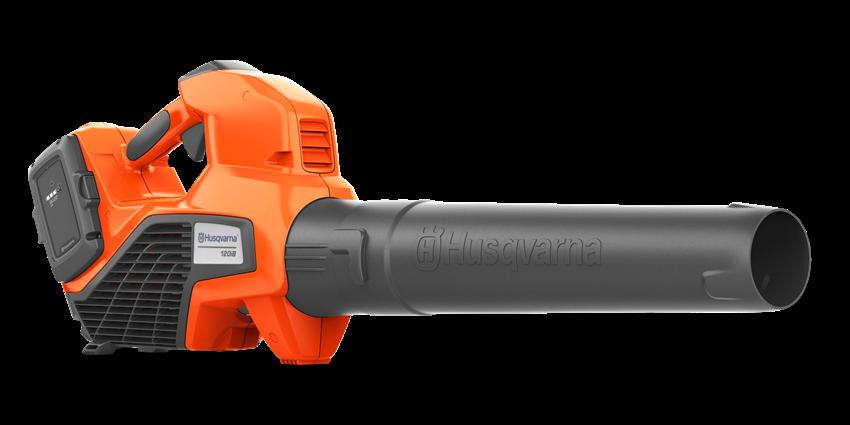oranžs akumulatora lapu pūtējs
