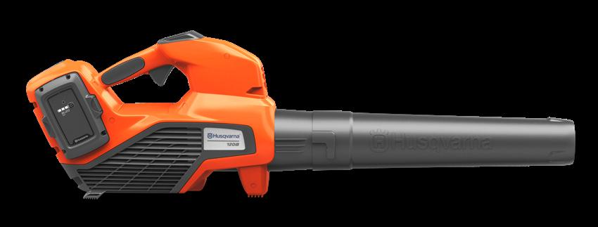 oranžs ar melnu akumulatora lapu pūtējs