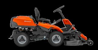 Oranžs Husqvarna raideris, modelis ''R214TC'', skats no labā sāna