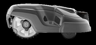 Melns Husqvarna zāles pļāvējs robots – Automower 310 modelis, skats no labā sāna