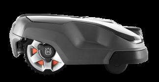 Melns Husqvarna zāles pļāvējs robots – Automower 315X modelis, skats no labās puses