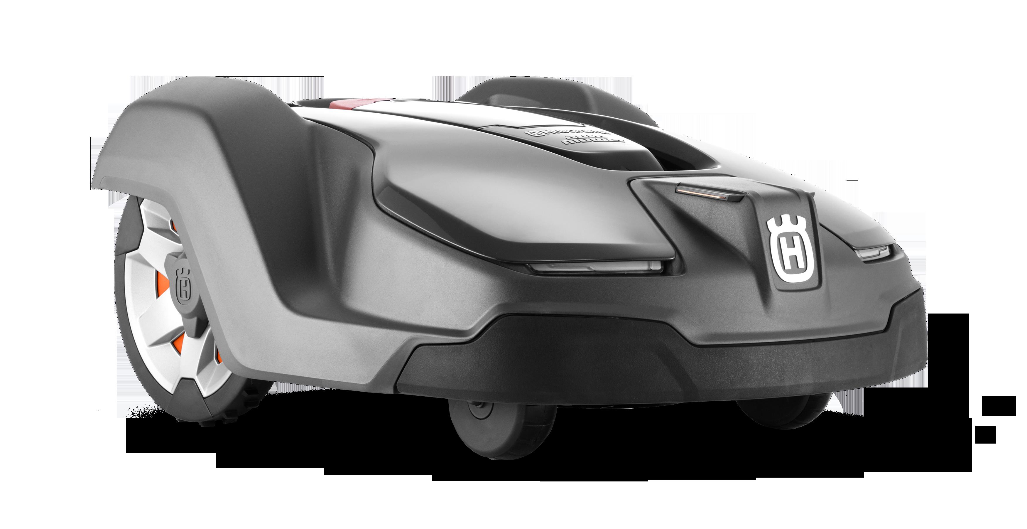 Melns Husqvarna zāles pļāvējs robots – Automower 430X modelis