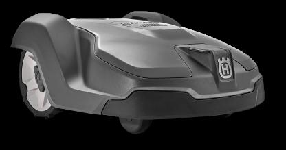 melns zāles pļāvējs robots