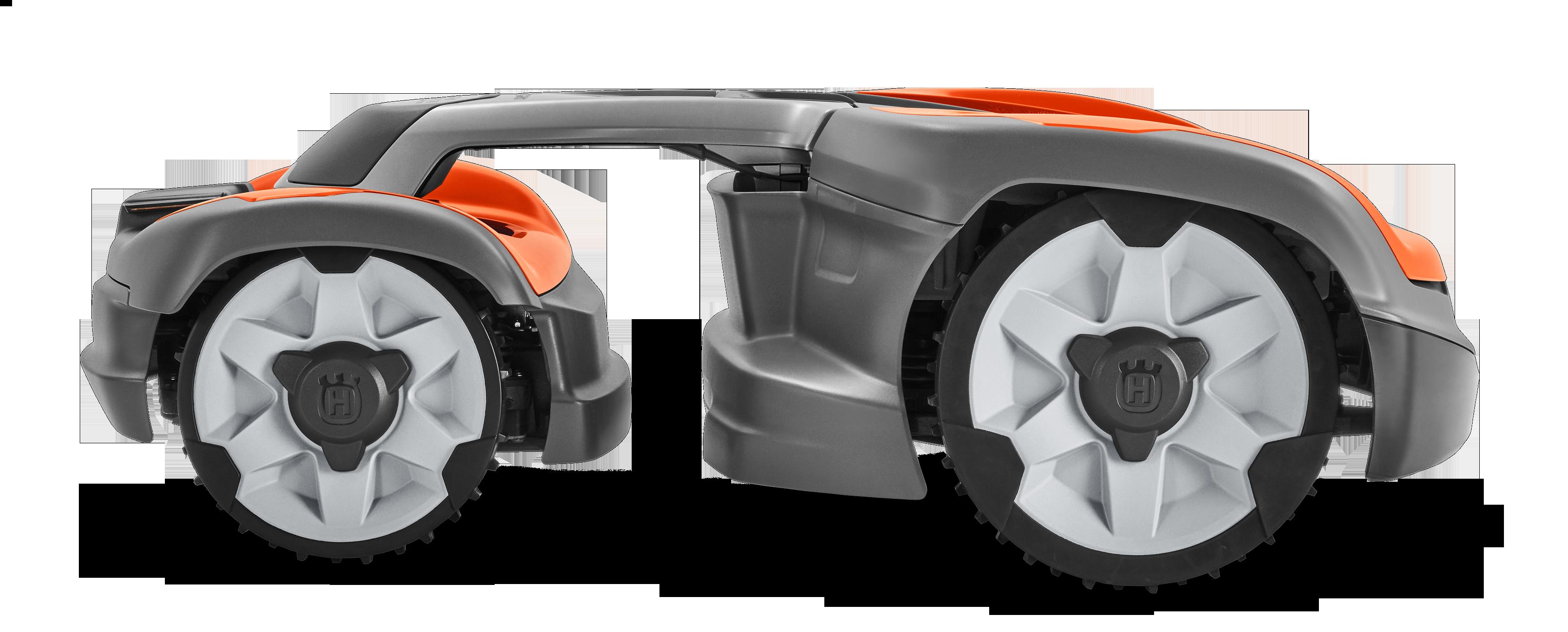 husqvarna zāles pļāvējs robots no sāna skata