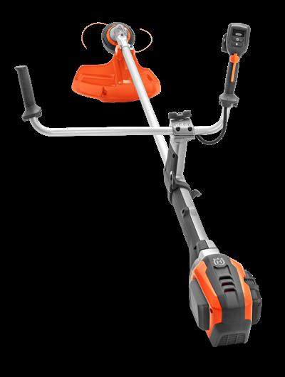 husqvarna akumulatora krūmgriezis melnā un oranžā krāsā