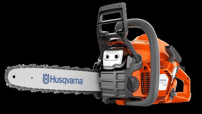 Oranžs Husqvarna Motorzāģis, 130 modelis