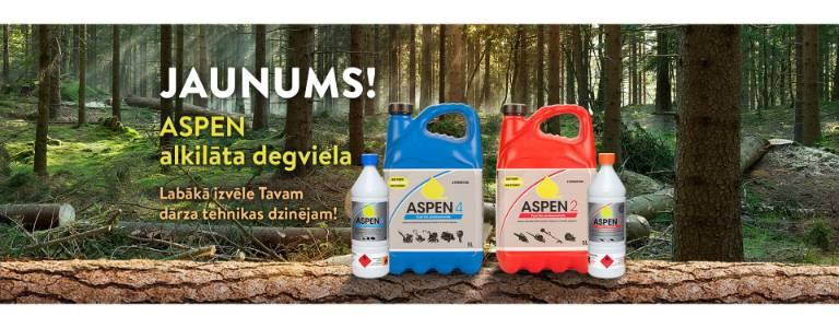 Dārza tehnikas dzinēju alkilāta degviela - ASPEN