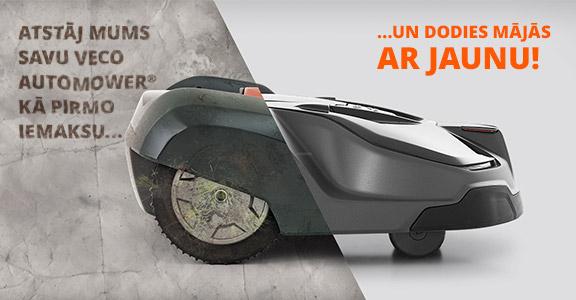 Akcija nodot veco automower robotizēto zāles pļāvēju pret jaunu
