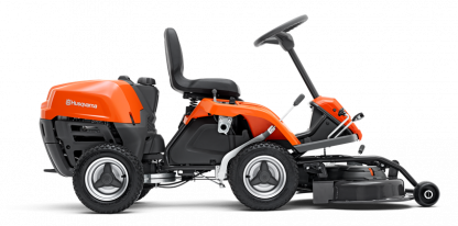 Oranžs Husqvarna raideris, modelis' 'R112C5'', skats no labā sāna