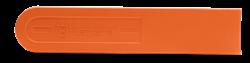 Oranžs Husqvarna motorzāģa sliedes aizsargs, 13 - 16 collām , skats no kreisā sāna