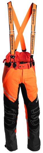 Melnas ar oranžu Husqvarna jostas aizsargbikses, modelis ''Technical Extreme''