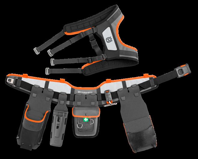 Husqvarna instrumentu josta FLEXI Kombi komplekts ar ķīļu kabatām
