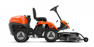 Oranžs Husqvarna raideris, modelis ''R115C'', skats no labā sāna