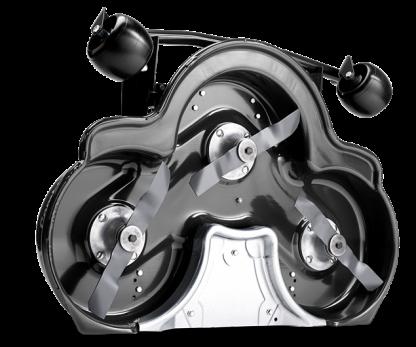 Melns Husqvarna pļaušanas bloks, modelis ''Combi 94 R300'', skats no apakšas