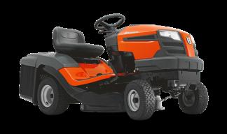 Traktors husqvarna ar melnu sēdekli