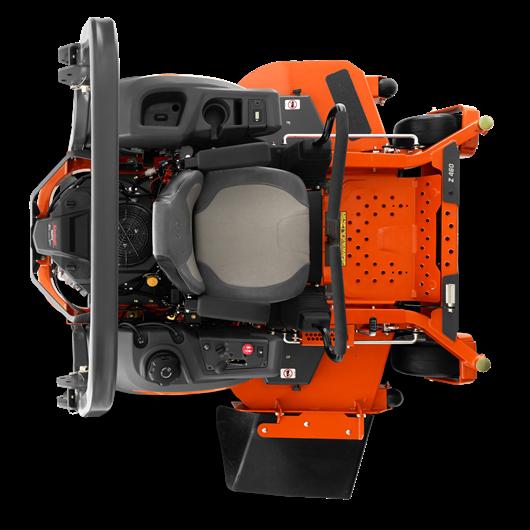 Oranžs Husqvarna, Nulles pagrieziena zāles pļāvējs - raideris, modelis ''Z448'', skats no augšas